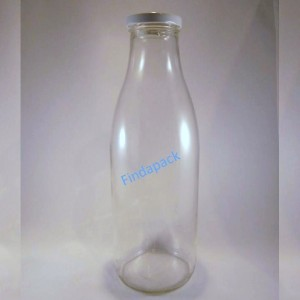 Bouteille verre 1000 ml TO 48 Couvercle Blanc