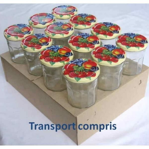 Pot facettes 324 ml avec couvercle au choix livraison sous 72 h - Couvercle pot confiture ...