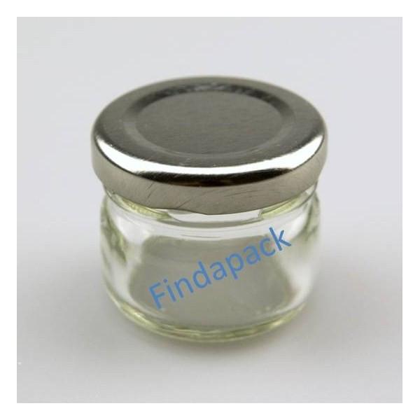 petit pot rond 30 ml avec couvercle au choix findapack livraison 72 heures
