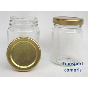 Pot rond 106 ml avec couvercle 13.80 € TTC livré par lot de 20 - Transport compris