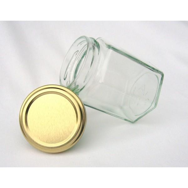 Pots hexagonaux 283 ml couvercle au choix findapack - Couvercle pot de confiture ...