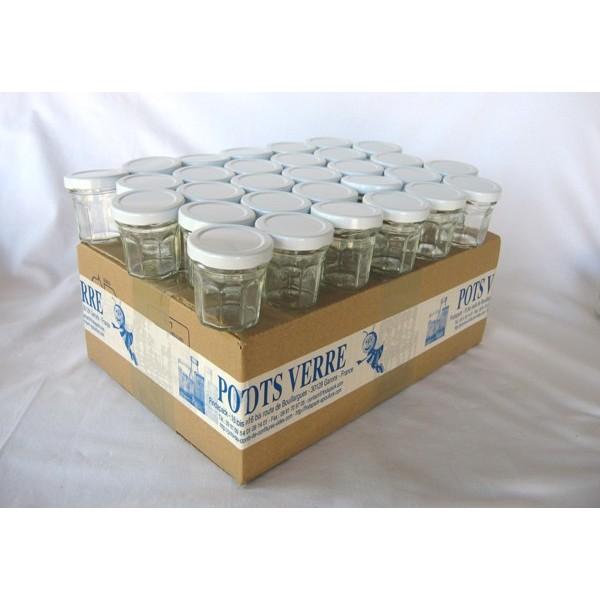 petits pots facettes 44 ml avec couvercle au choix en promotion livraison 72 heures. Black Bedroom Furniture Sets. Home Design Ideas