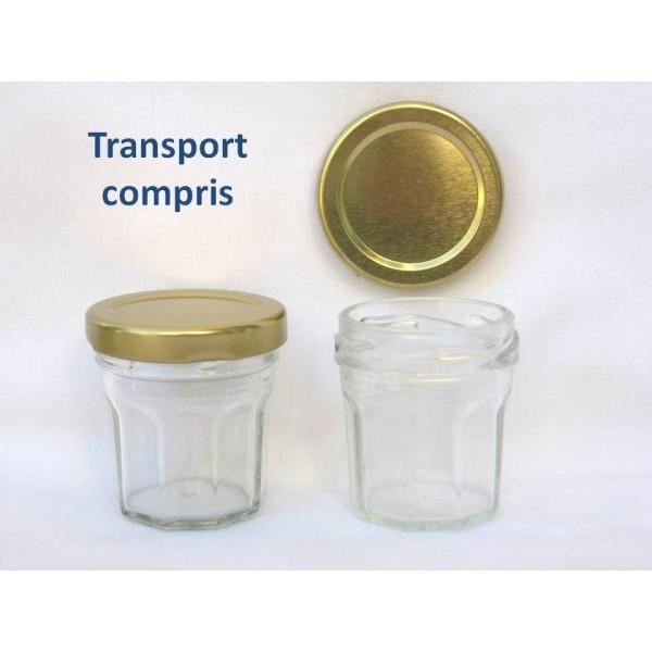 petits pots facettes 44 ml avec couvercle au choix en. Black Bedroom Furniture Sets. Home Design Ideas