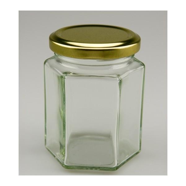 Pots hexagonaux 195 ml en promotion findapack - Pot de confiture vide pas cher ...
